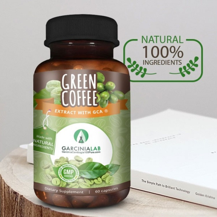 100% Pure Green Coffee-Bean Extract (50% Chlorogenic-Acid)