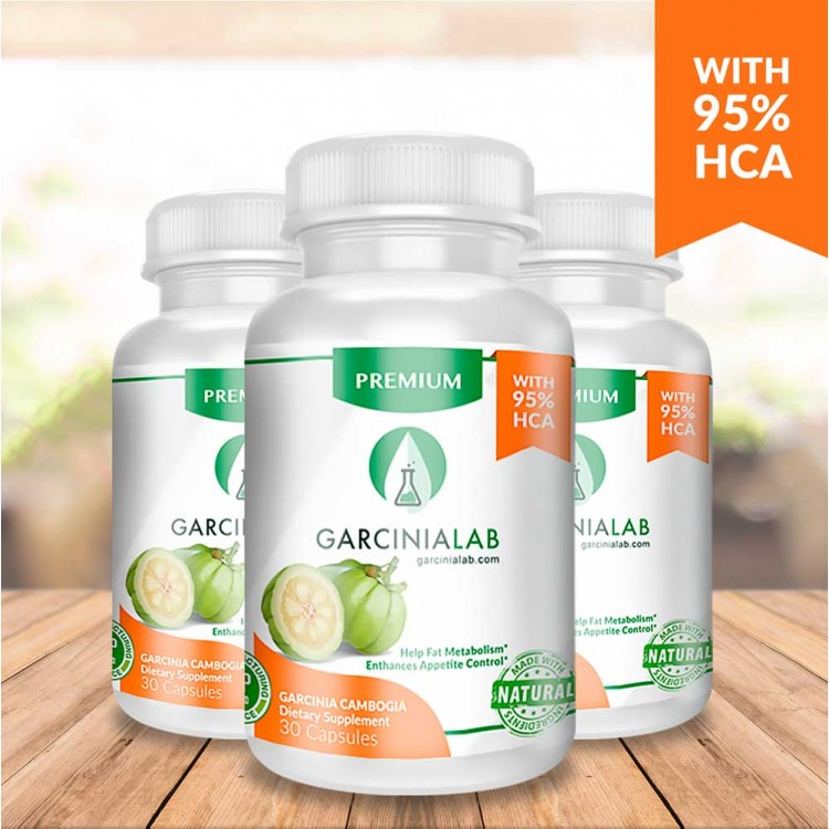 (3 Pack) 95% Garcinia Cambogia 100% Pure Extract