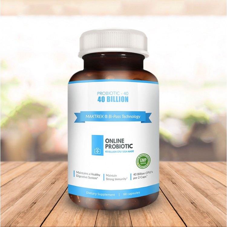 Organic Probiotic (Deep Immune System Support) 40 Billion CFU's 7
